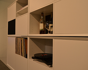Place your turntable, vinyls or whiskey bottles in a clic furniture....