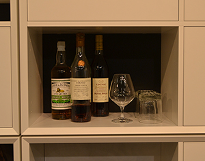 Use one of the rooms in your clic setup as a minibar